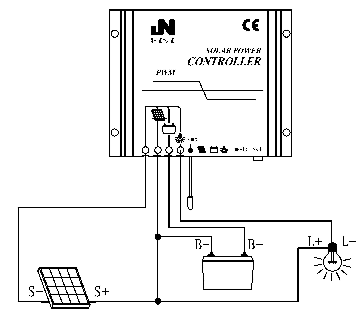 pwm solar charge controller connection