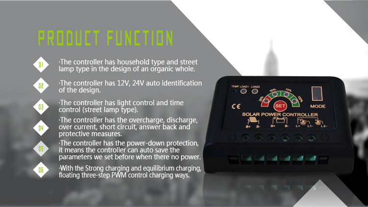 features of JN-S solar charge controller